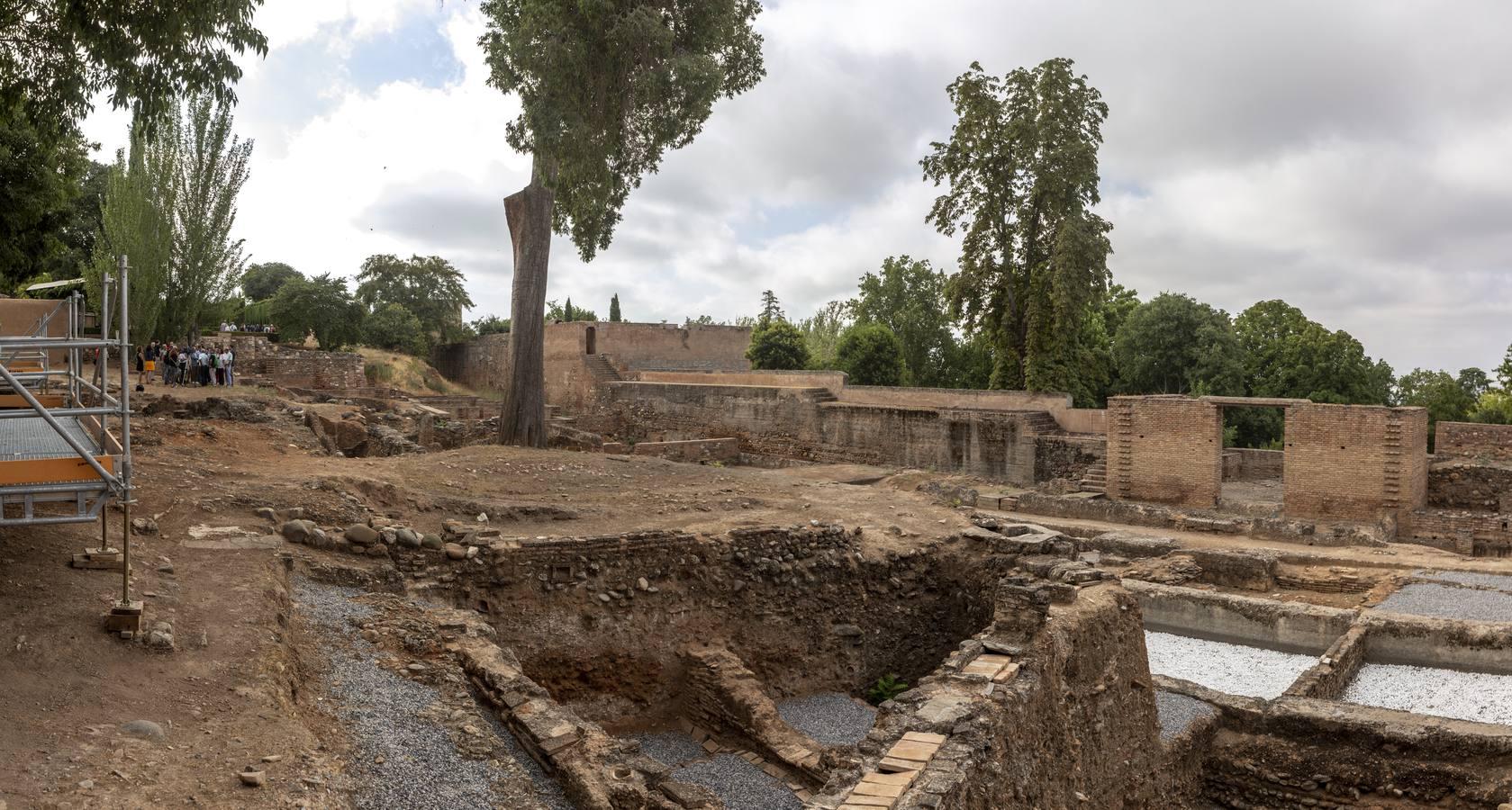 La Alhambra «abre por obras» el Palacio de los Abencerrajes, su mayor área arqueológica