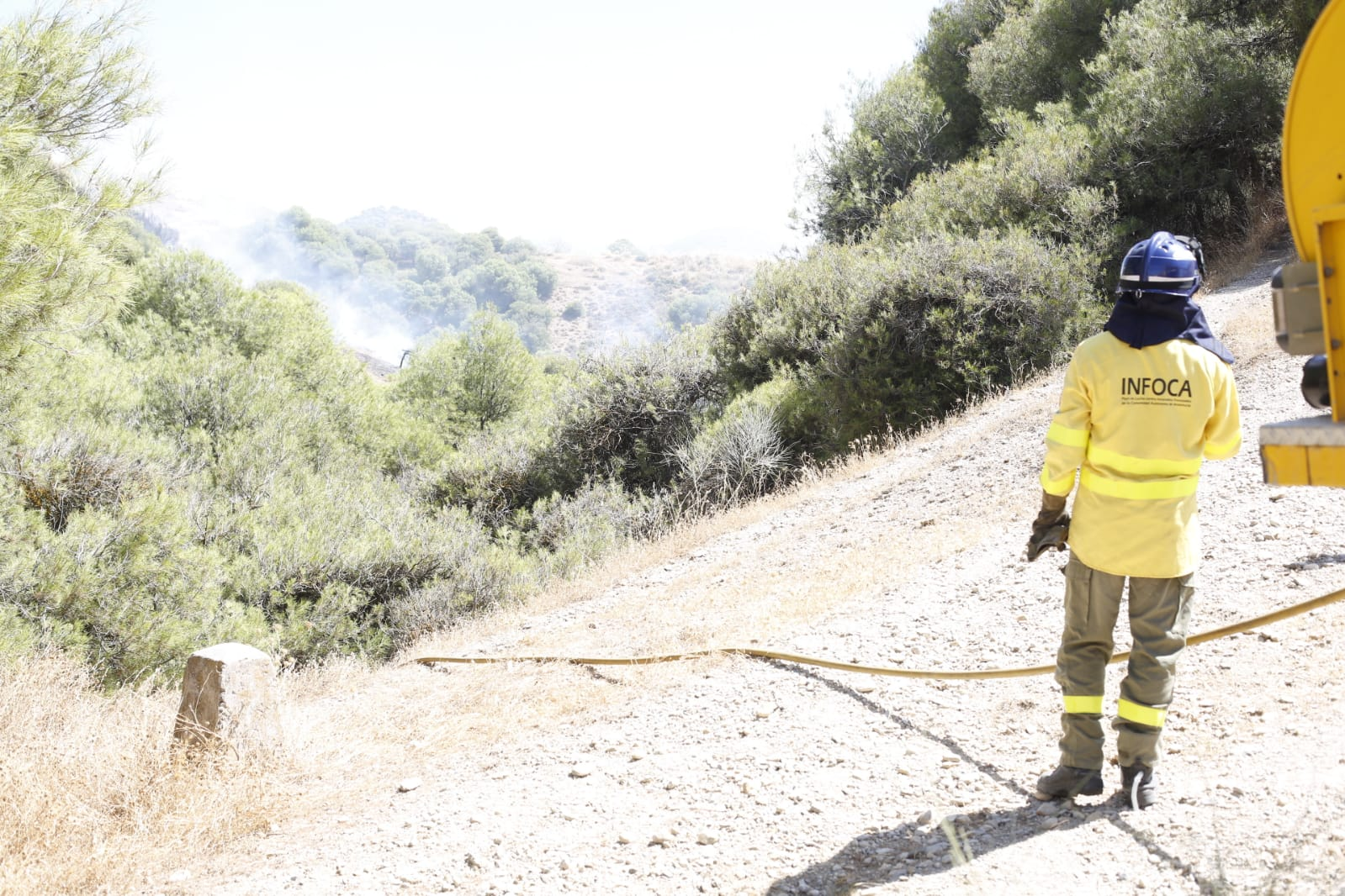 Fuego en San Miguel Alto