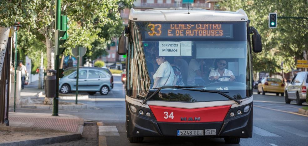 El metro de Granada y cuatro líneas de autobús estarán en huelga en la semana de la vuelta al cole