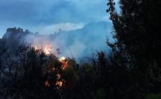 Extinguido el incendio forestal declarado en Albuñuelas, provocado por un rayo