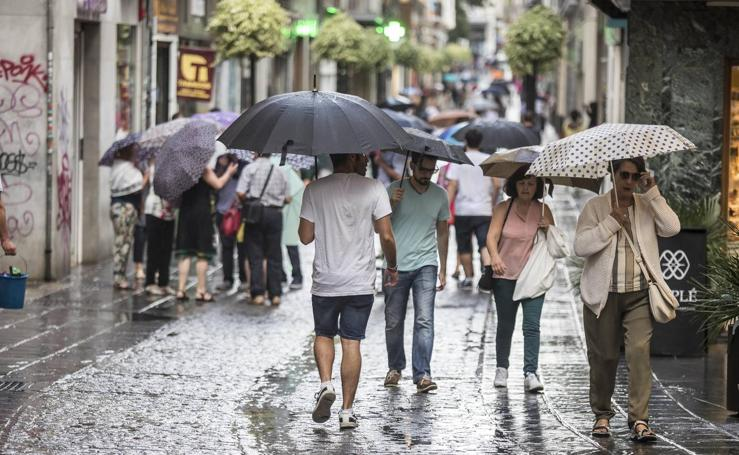 Granada registra el día más lluvioso del verano