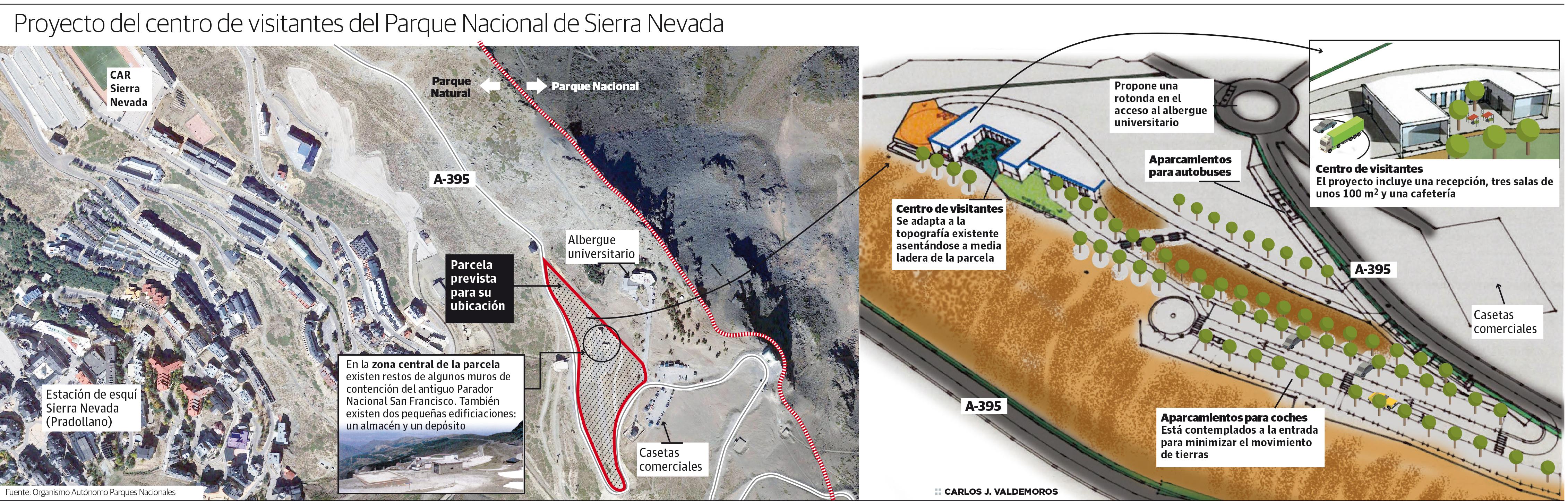 Así esl proyecto del centro de visitantes del Parque Nacional de Sierra Nevada en la Hoya de la Mora