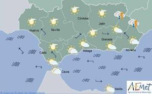 El tiempo de hoy, miércoles, en Andalucía: lluvias y cielos nubosos