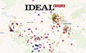Los 544 terremotos en Granada desde 2017, en una animación