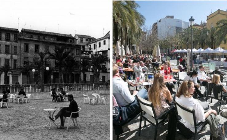 Así ha evolucionado la plaza de la Romanilla en los últimos 30 años