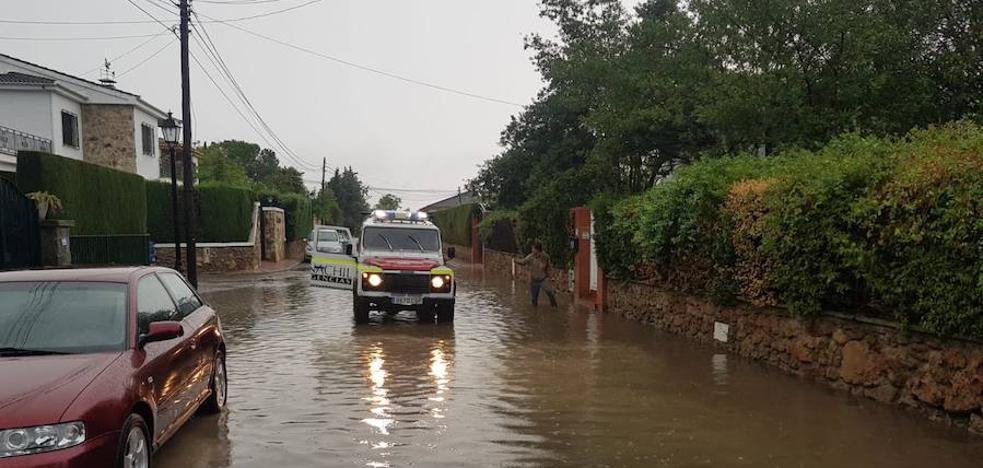 Casas inundadas en La Zubia y Baza por las fuertes precipitaciones