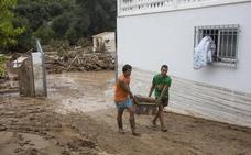 Cinco viviendas anegadas en solo media hora en distintos puntos de la provincia de Granada