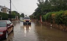 Casas inundadas en La Zubia, Baza y Motril por las fuertes precipitaciones