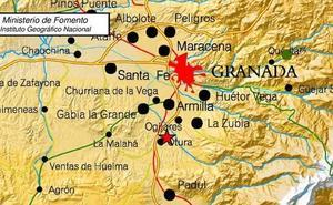 Un terremoto de 2,5 grados asusta de nuevo a Granada