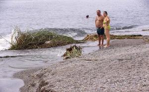 La suciedad llega a la playa de Poniente tras las lluvias