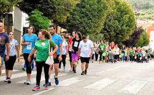 Respuesta masiva a la marcha contra el cáncer en La Puerta