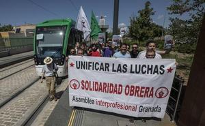 Arranca la segunda semana de paros en el metro de Granada, sin avances con la empresa