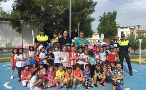 Jornada de educación vial con alumnos de Hermanos Carvajales en Martos