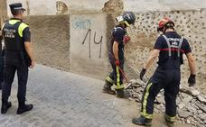 Derrumbe en la calle Obispo González de Jaén