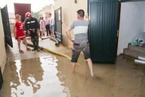 Los efectos de la tormenta en Atarfe