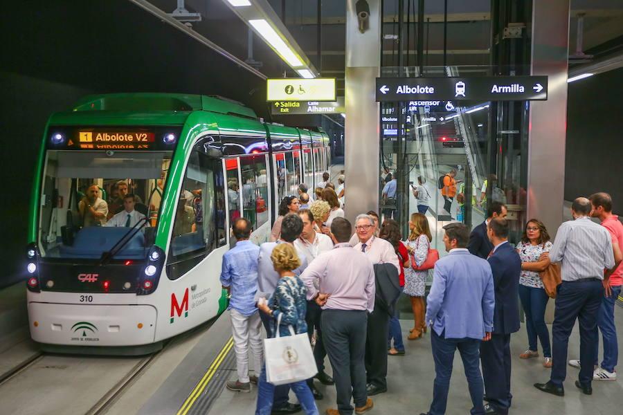 Granada celebra el primer aniversario del metro