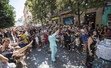 El Realejo se divierte con el primer atasco de peatones