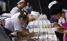 Los alumnos de cocina, el alma del congreso