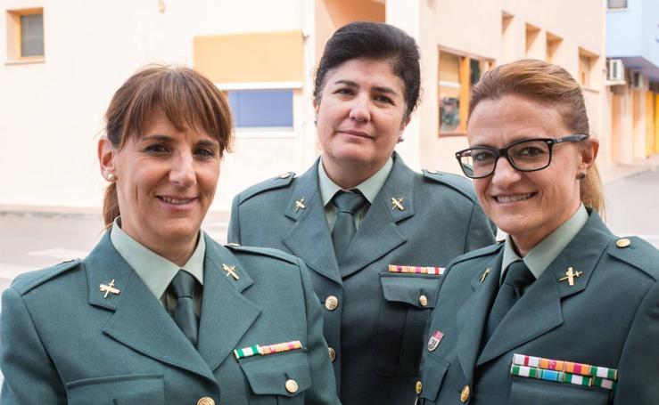 Las primeras mujeres guardia civiles de Granada cumplen 30 años en el cuerpo