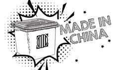 Urnas chinas y papeletas caseras
