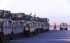 Una treintena de tanques saldrán desde el puerto de Motril a Noruega para una misión de la OTAN