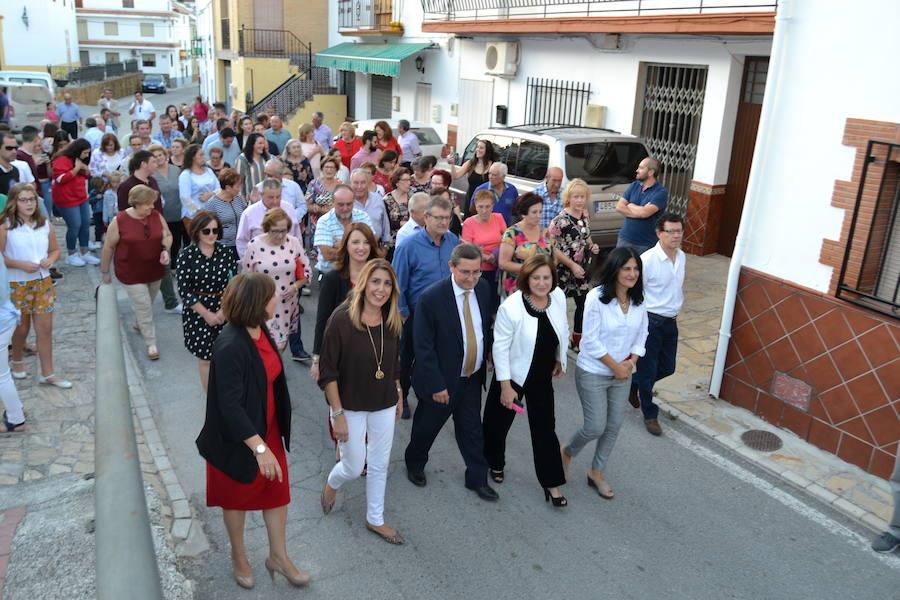 La presidenta Susana Díaz visita Fornes para celebrar su 'independencia'