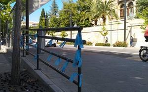 Granada amanece llena de lazos azules