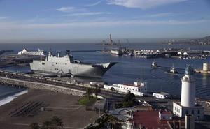 El portaviones Juan Carlos I, que visitarán 14.000 personas, llega el viernes a Motril