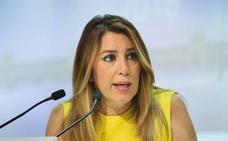 Susana Díaz espera «garantías» de que las inversiones cumplan con el Estatuto de Autonomía tras la reunión en Hacienda