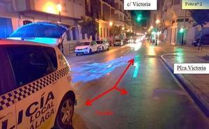 «A ver si la gente se mata»: detenido por derramar aceite de oliva en la calzada en Málaga
