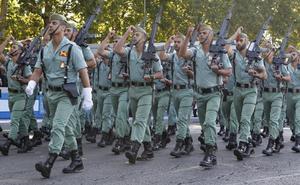 La Legión, en los actos del día de la fiesta nacional de España