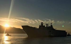 Motril recibe al mayor buque de guerra construido en España