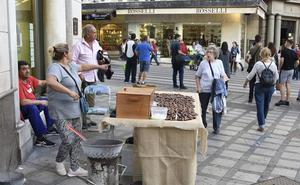 Castañas asadas en Granada a más de 30 grados