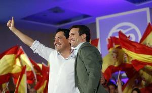 Moreno plantea el 2D como un «referéndum» sobre seguir o no con 40 años de PSOE en Andalucía