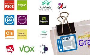 Explora todos los datos de las notas de prensa que envían los políticos de Granada
