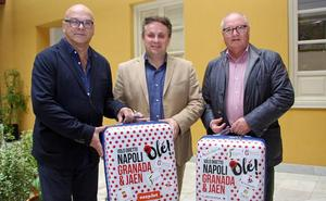 Granada y Jaén se promocionan en Nápoles para impulsar la nueva conexión aérea