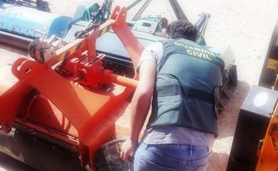Dos investigados por el robo de maquinaria agrícola en Chiclana de Segura