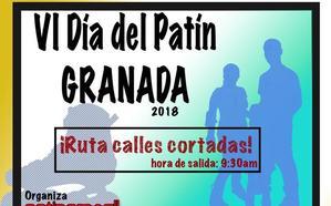 Los patines invadirán el centro de Granada el domingo: estos son los cortes de tráfico previstos