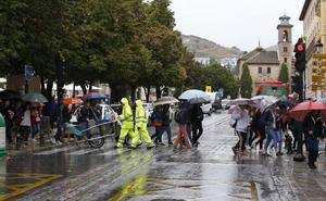 Tiempo sin tregua en Granada: cuatro días de lluvias