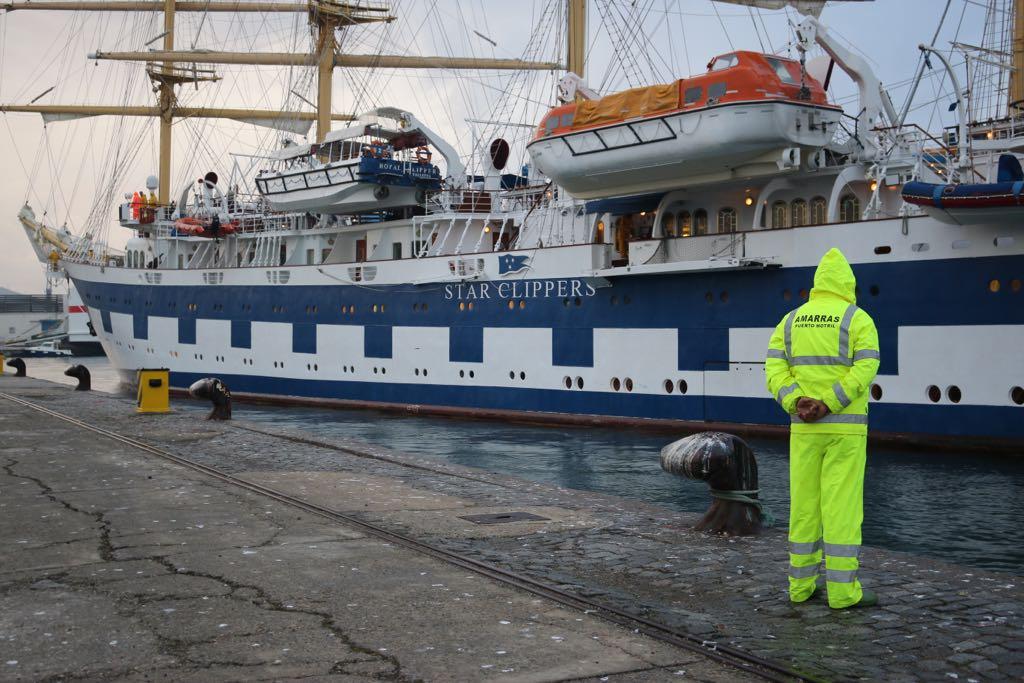El Royal Clipper ya está en el Puerto de Motril