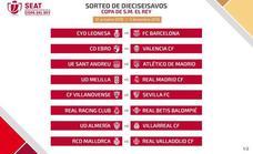 El gordo, para el Melilla y la Cultural, contra el Madrid y el Barça en la Copa