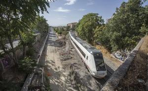 Las lluvias obligan a cortar el tren de Almería a Sevilla desde Granada