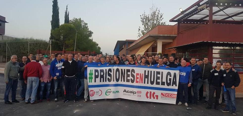 Éxito de la huelga de funcionarios de prisiones en Jaén