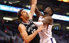 Gasol coloca líder a los Spurs y derrota amarga de Calderón