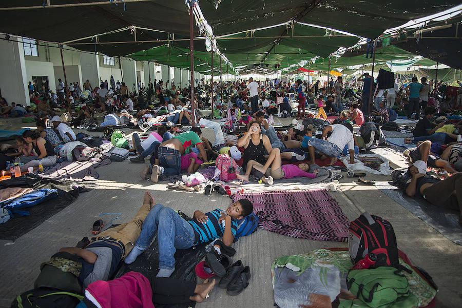 Los inmigrantes cambian de ruta en su marcha hacia EE UU por el sur de México