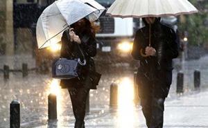 Aviso importante de la Aemet: lluvia intensa y mucho viento el fin de semana