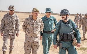 El comandante del Mando de Operaciones visita a las tropas españolas en Irak