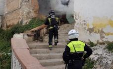 Incendio en una vivienda abandonada de la calle San Miguel de Jaén