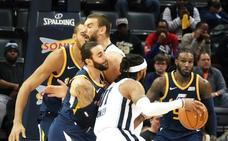 Los Jazz de Ricky Rubio acaban con la racha de los Grizzlies y Marc Gasol