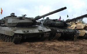 Los 'Leopardos' españoles segundos en una competición de carros de combate en Letonia